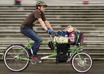 Tim Auger rides cargo