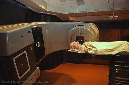 Beam me up! Author undergoes IMRT radiation therapy, 2003