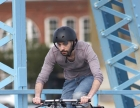 front-pannier-man-on-blue-bridge